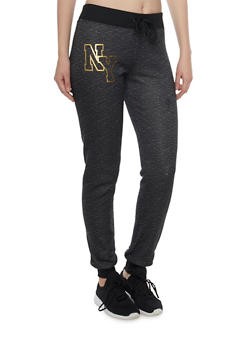 Slim Joggers with NY Graphic - 1056038346102