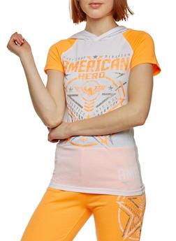 American Hero Hooded Graphic T Shirt - 1056038346103