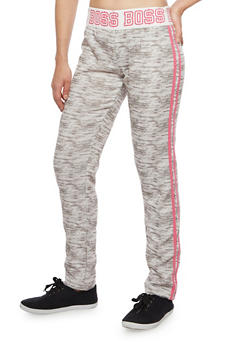 Graphic Sweatpants with Boss Print - 1056038346201