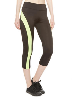 Performance Capri Leggings with Contrast Trim - 1056038346683