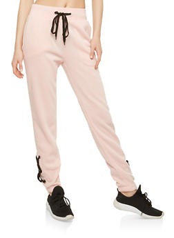 Lace Up Leg Sweatpants - 1056051060032