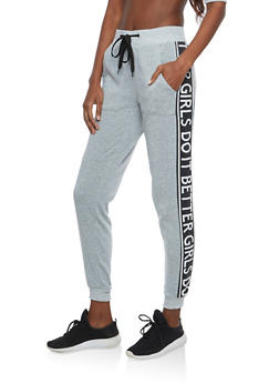 Girls Do It Better Graphic Sweatpants - 1056051060033