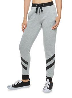 Diagonal Striped Sweatpants - 1056051063546