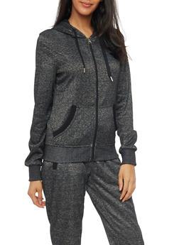 Soft Knit Zip Up Hoodie - 1056051065560