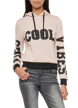 Cool Vibes Graphic Hooded Sweatshirt - 1056051066133
