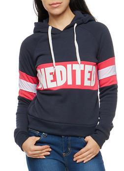 Unedited Graphic Hooded Sweatshirt - 1056051066136