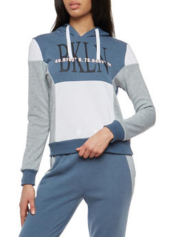 BKLN Graphic Color Block Sweatshirt - 105605106673b