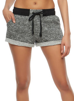 Marled French Terry Shorts - 1056054265540