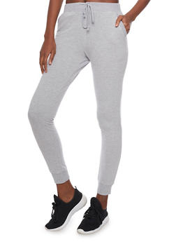 Slim Fit Joggers with Drawstring and Two Pockets - 1056054265776