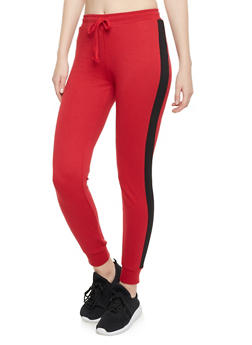 Joggers with Striped Trim - 1056054266806
