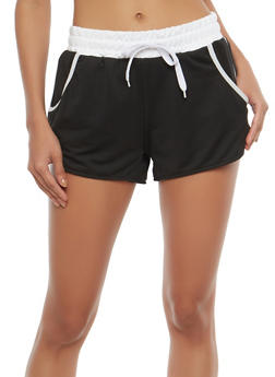 Contrast Trim Activewear Shorts - 1056072290016