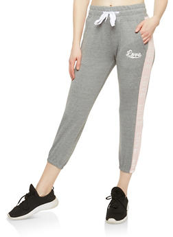 Love Graphic Cropped Sweatpants - 1056072290020