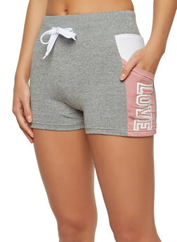 Love Graphic Activewear Shorts - 1056072290022
