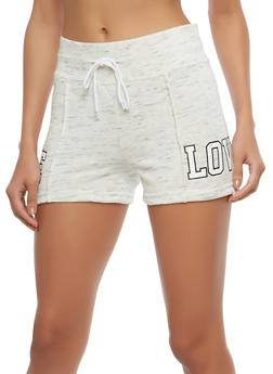 Marled Love Graphic Shorts - 1056072290038