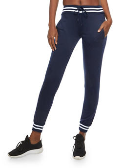 Stripped Trim Sweatpants - 1056072290053