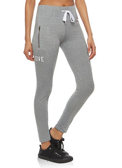 Graphic Zip Pocket Leggings - 1056072290115