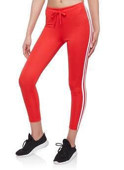 Drawstring Waist Varsity Stripe Sweatpants - 1056072290118