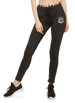 Love Patch Foldover Active Pants - 1056072291220
