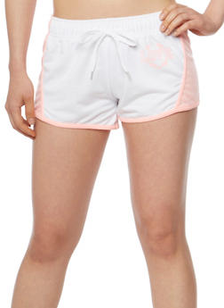 Love Graphic Athletic Drawstring Shorts - 1056072291300