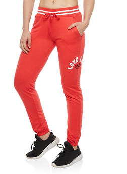 Love Graphic Sweatpants - 1056072298703