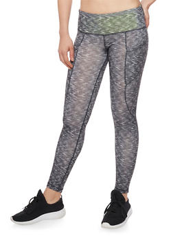 Activewear Space Dye Cropped Leggings - 1058015990059