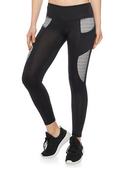 Cropped Colorblock Activewear Leggings - 1058015990190