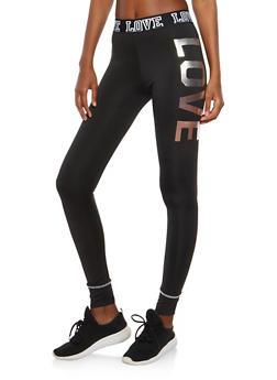 Love Graphic Activewear Leggings - 1058038340002