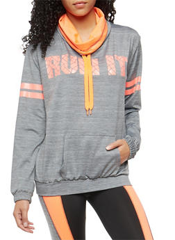 Activewear Run It Graphic Pullover Top - 1058038340100