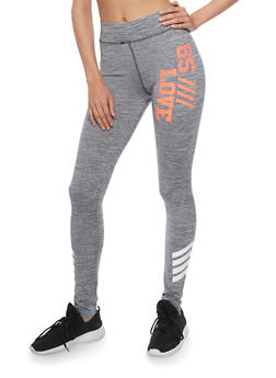 Marled Love Graphic Activewear Leggings - 1058038342002