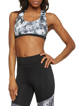 Tie Dye Caged Back Sports Bra - 1058038347900