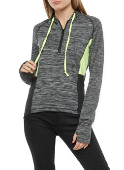 Printed Active Hooded Top - 1058038348020