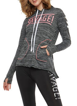 Savage Graphic Hooded Sweatshirt - 1058038348060