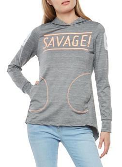 Savage Graphic Hooded Sweatshirt - 1058038348060