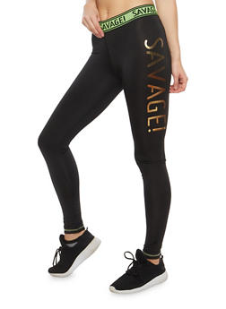 Savage Graphic Active Leggings - 1058038348061