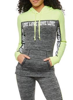 Love Graphic Hooded Active Sweatshirt - 1058038348070