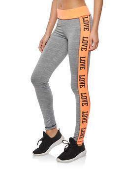 Love Graphic Active Leggings - 1058038348071