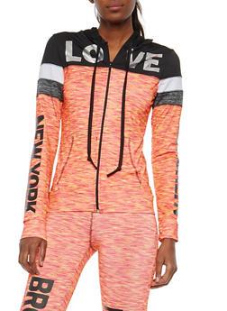 Graphic Hooded Active Sweatshirt - 1058038348088