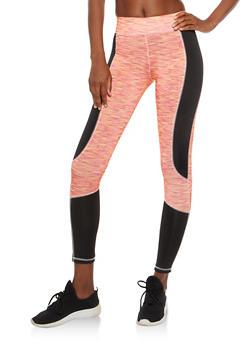 Color Block Activewear Leggings - 1058038348098