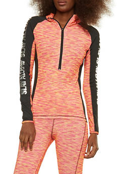 Foil Graphic Printed Active Top - 1058038348110