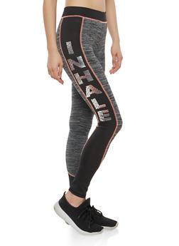 Inhale Exhale Graphic Active Leggings - 1058038348123