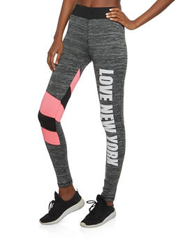 Love NY Graphic Active Leggings - 1058038348131