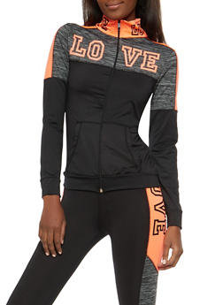Love Foil Graphic Active Sweatshirt - 1058038348140