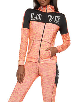 Love Foil Graphic Active Sweatshirt - 1058038348140