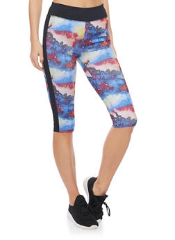 Cropped Leggings in Abstract Print - 1058051061010