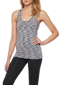 Space Dye Racerback Tank Top - BLACK/WHITE - 1058054266583