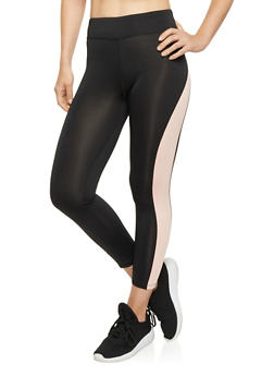 Cropped Color Block Leggings - 1058054266837