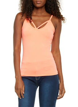 Tank Top with Cutout Straps - 1058054269263