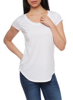 Short Sleeve Activewear T Shirt - WHITE - 1058054269268