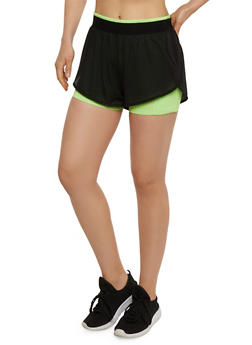 Layered Activewear Bike Shorts - 1058054269382