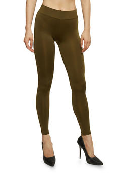 Solid Push Up Activewear Leggings - OLIVE - 1058054269680